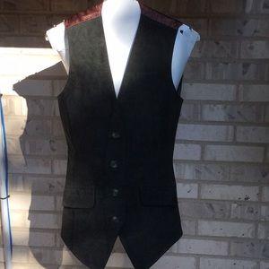 Express Vintage long Genuine leather vest